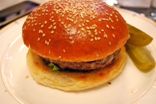 Village Whiskey - burger bun seems a little big