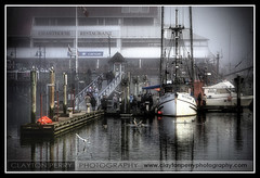 Steveston Harbour (Clayton Perry Photoworks) Tags: seagulls canada water vancouver river boats dock bc britishcolumbia richmond canoe fraser fishingboats hdr steveston charthouse luluisland pacificsearcher claytonperry