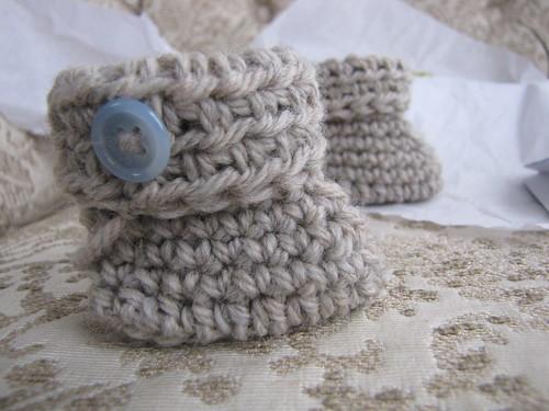 Wool bootie