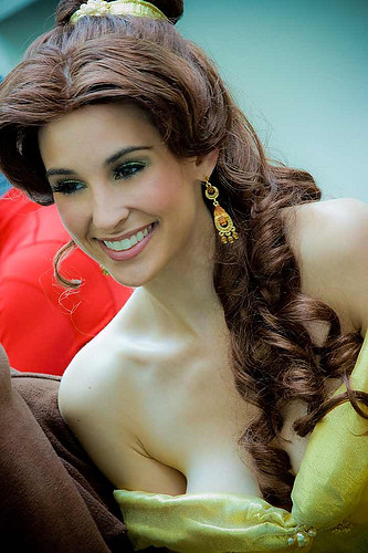 Me as a pin-up version of Disney's Princess Belle, taken at San Diego