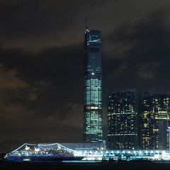 Hong Kong - ICC and Ocean Terminal at night (cnmark) Tags: ocean china light west building fer