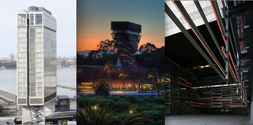 Some Curbed fan favorites: The Standard Hotel in New York, San Franciscos de Young Museum, and the Caltrans HQ in LA.