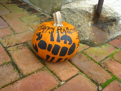 Pumpkin scorpion at Salem College 2