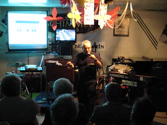 """Classic Hammond Sound...In A Suitcase!"" Keynote Presentation by Jon Hammond (hammondcast) Tags: jazz blues hammondcast jonhammond inasuitcase kyouradio classichammondsound digitalnewb3organ berniesmusicland"