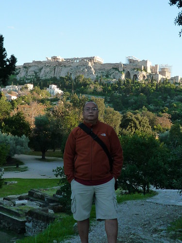 View of Acropolis from the grounds of Ancient Agora