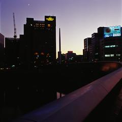 one evening in Hiroshima (akira ASKR) Tags: hiroshima bronica e100vs 2009  bronicas2 zenzabronica zenzabronicas2 ekimaeohashi  ekthacrome akiraaskr