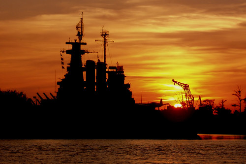 Battleship Sunset