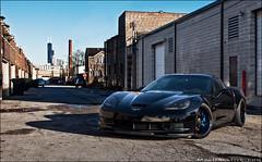 "427 ""Batman"" Corvette (jeremycliff) Tags: city blue cliff chicago black canon dark towers fast sigma jeremy chevy rig batman custom corvette vette z06 chevorlet 40d rigshot jeremycliff myacreativestudios myacreativecom myacreative batmancorvette"