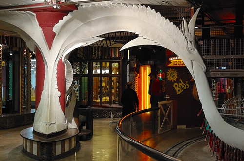 City Museum, in Saint Louis, Missouri, USA - sculpture of sea-serpent