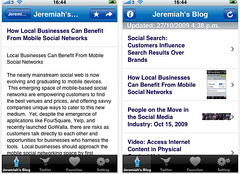 Screenshots of the Web Strategy iPhone App