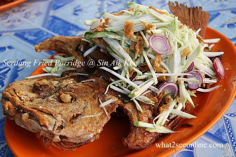 Serdang Fried Porridge @ Sin Aik Kee
