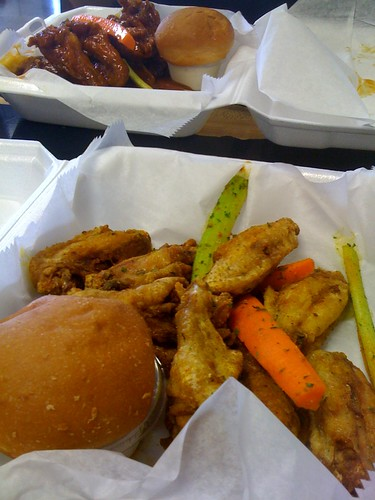 Regular party wings and honey hot whole wings from Chings