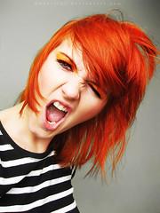 Orange girl (basistka) Tags: orange girl expression poland facial basistka xbasistkax