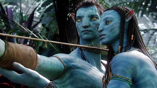 Sam Worthington and Zoe Saldana are motion-captured 'Avatar's in James Cameron's latest special effects extravaganza.