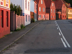 Bornholm, Gudhjem in the evening (Tarja Intonen) Tags: street tag3 taggedout island evening tag2 tag1 balticsea danmark bornholm gudhjem