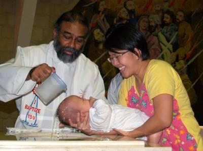 Justin baptism