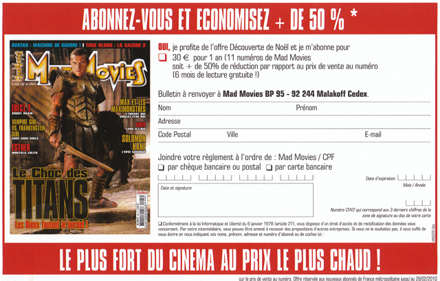 offre abonnement mad movies