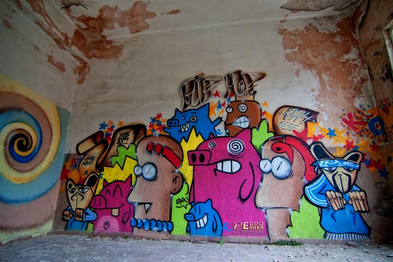 Graffitis en el Seminario - La patrulla cochina