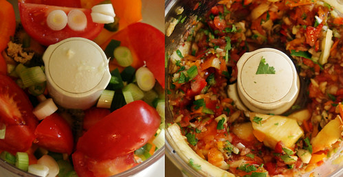 Fruit Salsa, Before & After