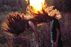 Little Lions (Stephen Beadles) Tags: girls sunset beautiful field hair photography little lion stephen flip lions hairflip beadles stephenbeadles