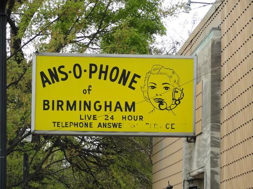 Ans-O-Phone Sign, Birmingham AL