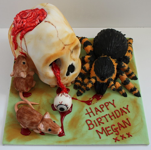 Horror Lovers Birthday Cake by Pauls Creative Cakes