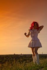 Nippon no yhi X (Ole M. Werner) Tags: sunset berlin girl rock germany de costume gun sonnenuntergang cosplay skirt weapon nippon setup katana potsdam fukushima sailormoon schwert teufelsberg mayli g36 tllrock olemwerner norafritz