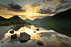 The Unforgettable Fire (.Brian Kerr Photography.) Tags: mountains sunrise canon reflections landscape rocks lakedistrict cumbria wastwater theunforgettablefire wasdalehead eos5dmkii