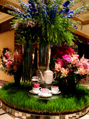 NYC 2011 074 (catchesthelight) Tags: nyc flowers english hotel tea centralpark manhattan interior historic lobby celebration angelinajolie celebrities artdeco renovation deco judelaw 59thst photoshop40 mirroredtable jumeirahessexhouse nationaltrusthistorichotelsofamerica essexhouseneonsign