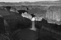 Palouse Falls in Shadow (scottwyden) Tags: palouse landscape resourcetravel washington waterfall populatedplacenj resourcetravel500px nxnw2015 monochrome unitedstatesus location newjerseynj nxnw palousefalls