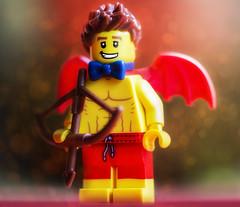 Valentine (jezbags) Tags: lego legos macro macrophotography macrodreams macrolego canon60d canon 60d 100mm red yellow bowtie tie bow arrow wings love valentine valentines heart romance bokeh