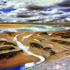 (digitalpsam) Tags: uk blue color colour reflection nature beautiful clouds spectacular landscape scenery heaven tide norfolk surreal lowtide drama soe cromer theunforgettablepictures artofimages saariysqualitypictures yourwonderland sammatta