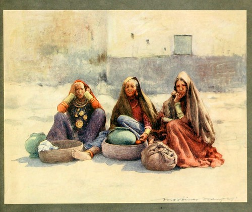 017- Vendedoras en Ajmere-The people of India 1910