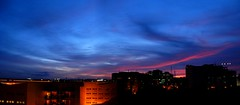 Try and penetrate with our limited means the secrets of nature and you will find that, behind all the discernible concatenations, there remains something subtle, intangible and inexplicable. (legends2k) Tags: blue sunset sky panorama india skyline night clouds buildings religious evening office twilight nikon scenery stitch streak dusk einstein religion violet coolpix rays hyderabad nightfall deepblue alberteinstein l5 thev ascendas evenfall nikoncoolpixl5 alfredkerr thediaryofthecosmopolitan samuelfischer hgkessler