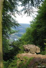 Devil's Pulpit Overlooking the Wye River Valley and Tintern Abbey