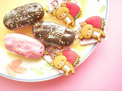 Kawaii Rilakkuma Charm Puffy Fluffy Eclair Sweets Cute Japan (Kawaii Japan) Tags: bear pink cute animal cake japan fruit asian japanese strawberry keychain keyring soft chocolate character cream fluffy charm rubber mascot collection softie kawaii strap sweets puffy choco eclair collectibles collector phonecharm rilakkuma sanx ballchain bagcharm cellphonecharm