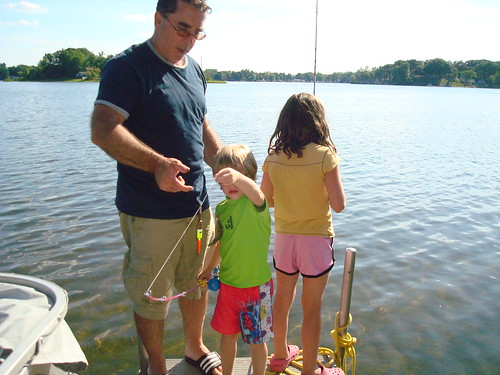 Fishing with Uncle Steve - Sam's 1st fish
