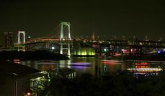 Tokyo Bridge at night (TruShu) Tags: city bridge japan night japanese tokyo bay asia nightshot metropolis bustle hdr vibrance coloful asiaatnight summer2009