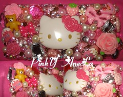 Super Kawaii Deco Hello Kiity DS Lite Case Made be Me (Pinky Anela) Tags: flower japanese tokyo hellokitty nintendo ds kawaii deco sweetsdeco pinkyanela