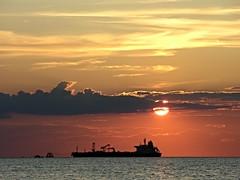 Long Island sunset East end (Darren-) Tags: ocean light sunset ny newyork beach water darren boat ship longisland winecountry riverhead eastend northville longislandnorthfork lucelanding