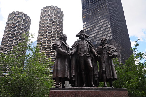 This is George Washington shaking hands with someone Ive never heard of and someone called Hyam Soloman. So I think this is one of Washingtons Middle East peace forums.