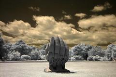 Reaching (John Adkins II) Tags: trees sculpture hand nikond70 kentucky infrared crestwood nikon18200vr yewdellgardens johnadkins johnadkins
