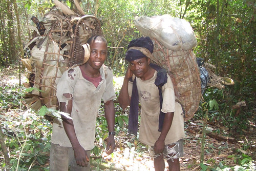 backpacks of bushmeat
