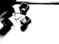 Virtual conversation... (Gabrielle Z) Tags: bw interiors theturntable bestminimalshot distinguishedblackandwhite serralveshouse gabriellez