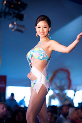 Miss Singapore 2009 Rachel Kum walks the runway