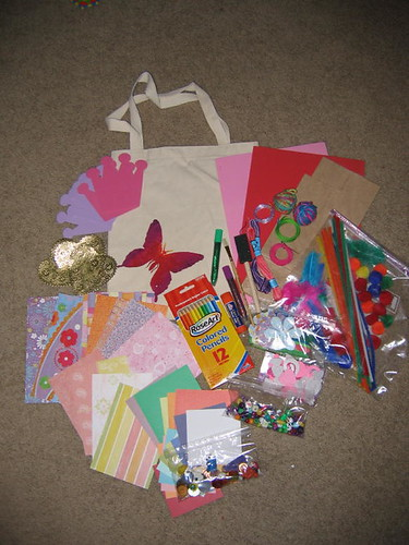 Girls Craft Kit Spread Out
