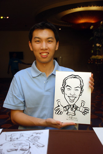 Caricature live sketching for Standard Chartered Bank - 9