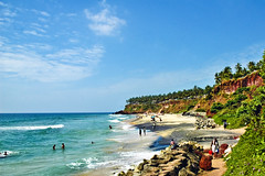 Varkala Winter ! (Anoop Negi) Tags: world sea portrait cliff sun india holiday color colour tourism beach water photography for photo sand media day place image