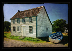The Last Saltbox (Tomcod) Tags: old windows roof house art history texture home architecture vintage newfoundland boat interesting nikon village photos fine colliers soe clapboard d300 saltbox outport