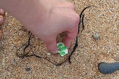 11 September 2009 (Copperhobnob) Tags: shells beach sand hand aberdeenshire stones pottery stcombsbeach